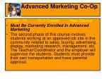 advanced marketing co op