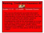 banking credit and insurance af