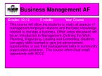 business management af