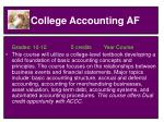 college accounting af