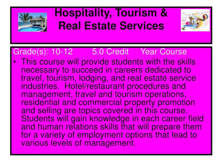 Hospitality, Tourism &
