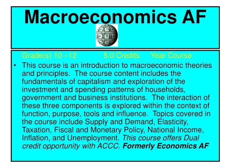 Macroeconomics AF