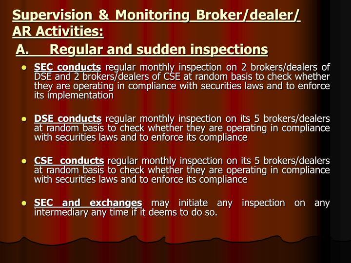 A.     Regular and sudden inspections