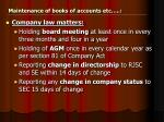 maintenance of books of accounts etc1