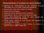 responsibilities of investors to stock brokers