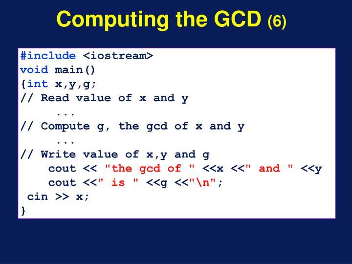 Computing the GCD