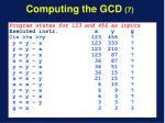 computing the gcd 7