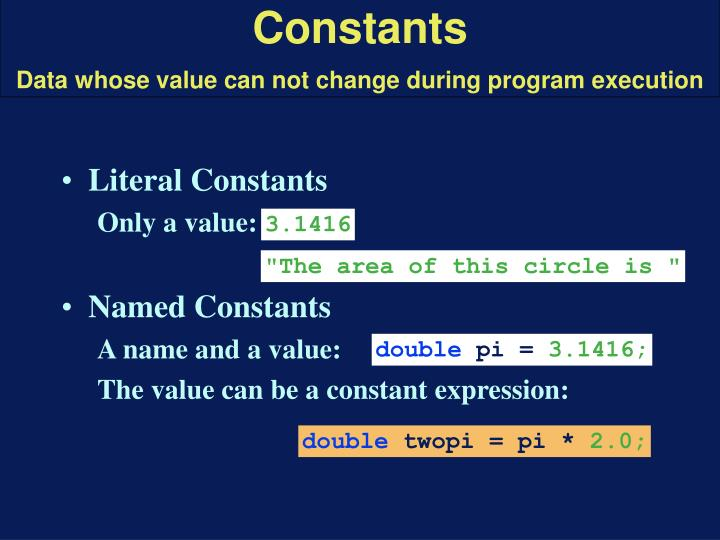Literal Constants