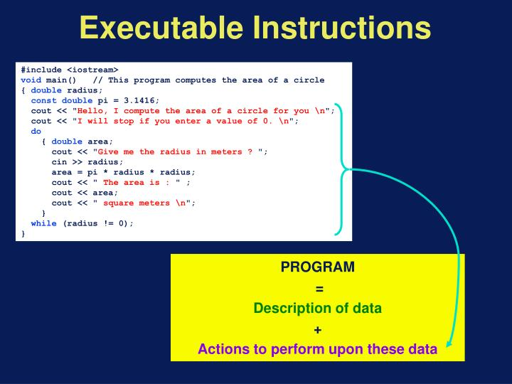 Executable Instructions
