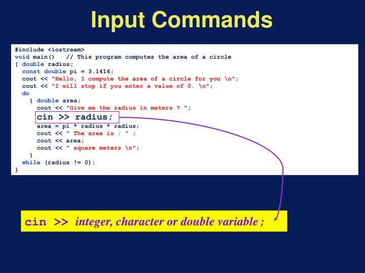 Input Commands