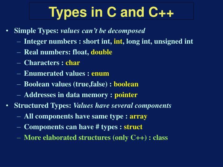 Simple Types:
