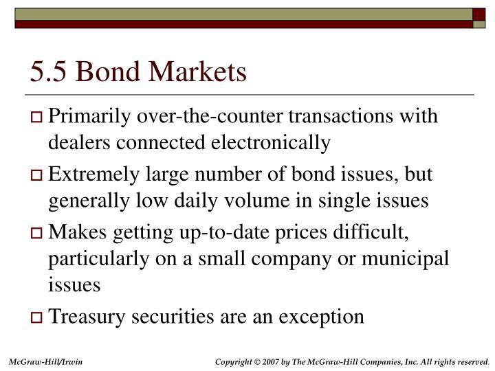 5.5 Bond Markets