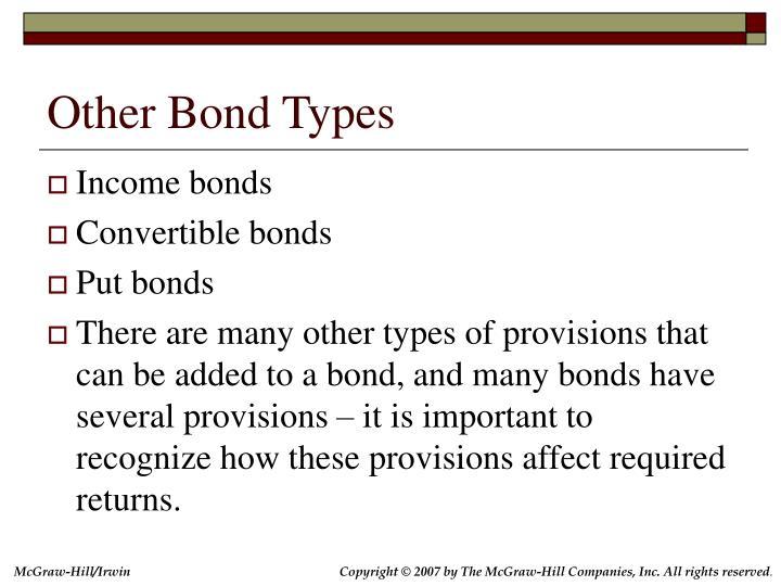 Other Bond Types