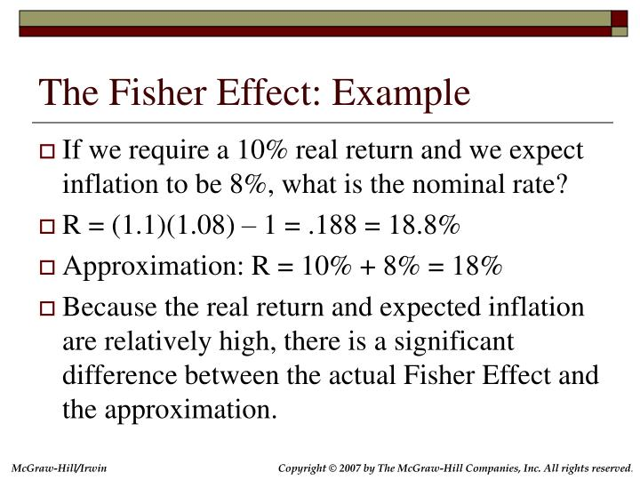The Fisher Effect: Example
