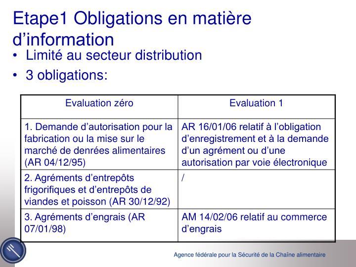 Etape1 Obligations en matière d'information