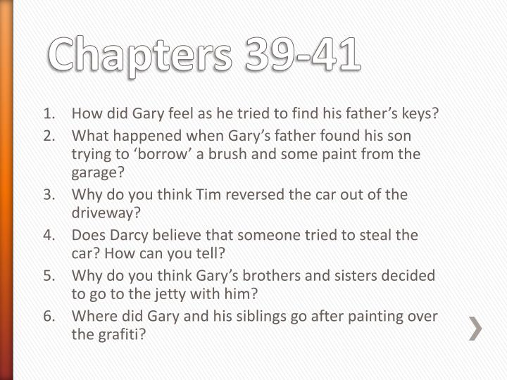 How did Gary feel as he tried to find his father's keys?
