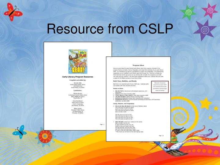 Resource from CSLP