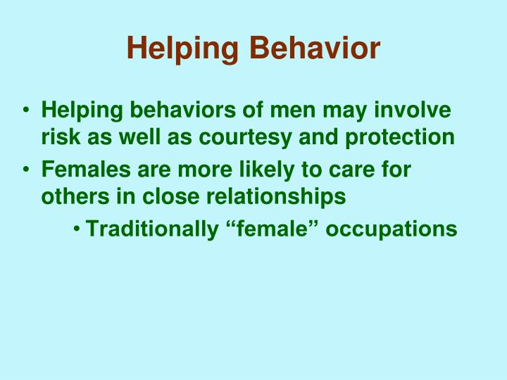 Helping Behavior