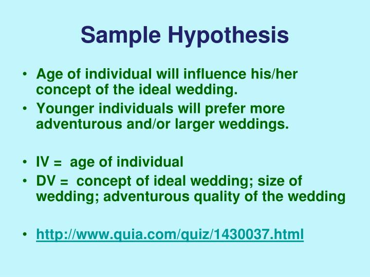 Sample Hypothesis