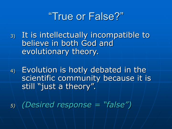 """True or False?"""