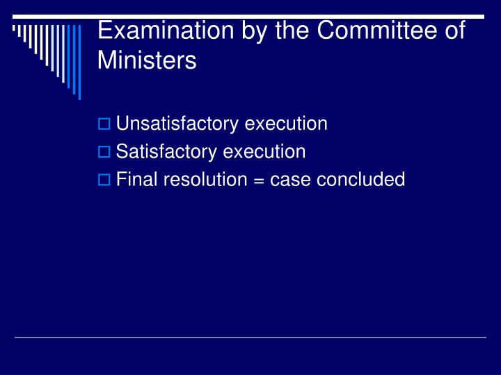 Examination by the Committee of Ministers