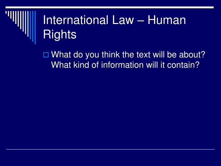 International law human rights