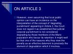 on article 316