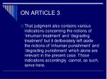 on article 35