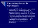 proceedings before the commission6