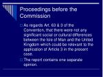 proceedings before the commission9