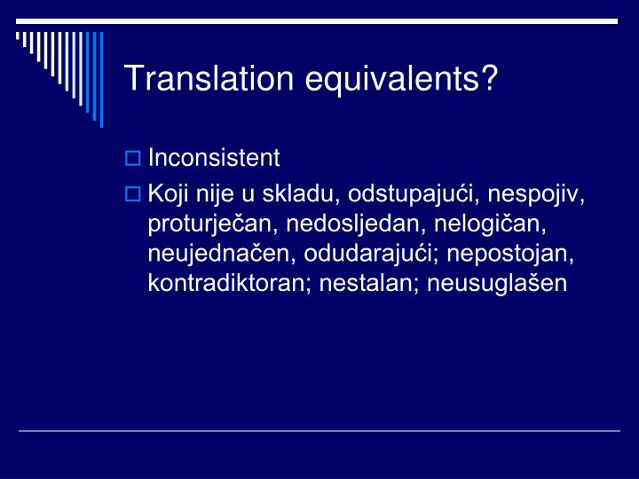 Translation equivalents?