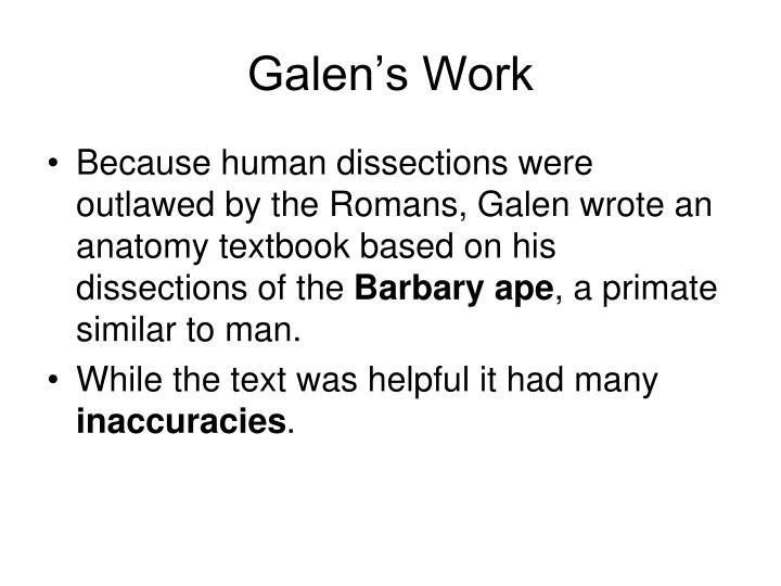 Galen's Work