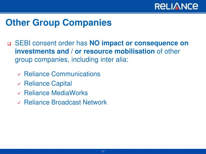 Other Group Companies