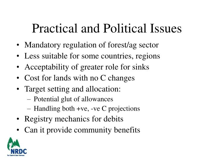 Practical and Political Issues
