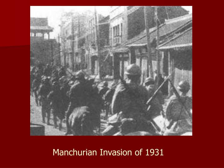 Manchurian Invasion of 1931