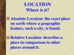 location where is it