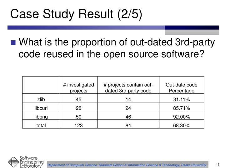 Case Study Result (2/5)