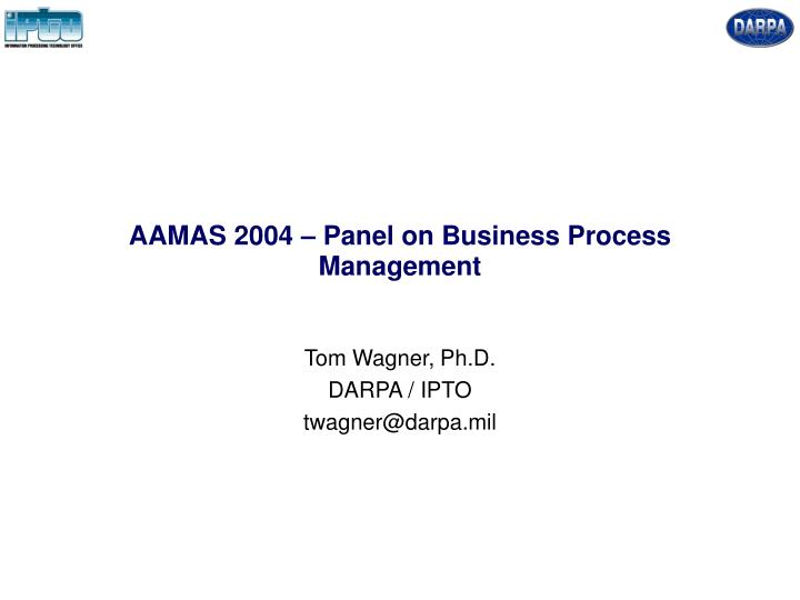 Aamas 2004 panel on business process management