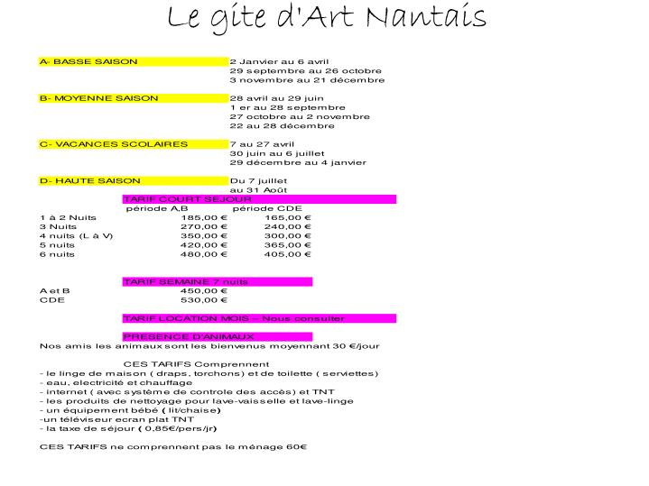 Le gite d art nantais