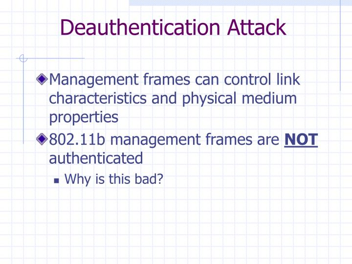 Deauthentication Attack