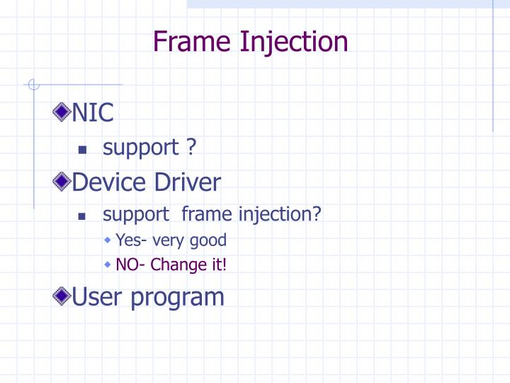 Frame Injection