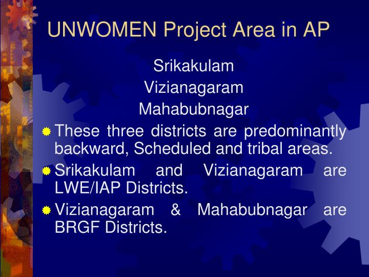 UNWOMEN Project Area in AP
