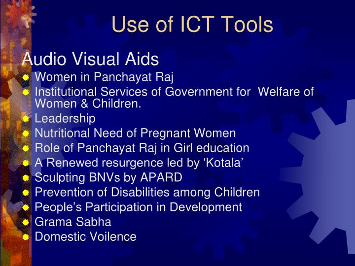Use of ICT Tools