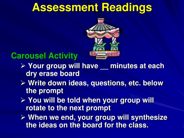 Assessment Readings