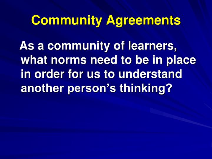 Community Agreements