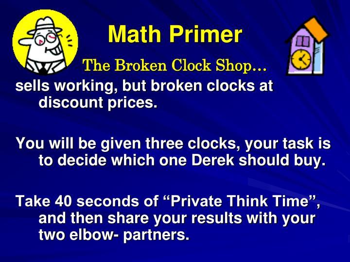Math Primer