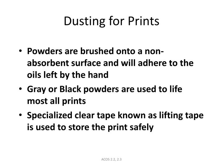Dusting for Prints