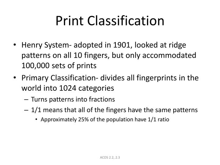 Print classification