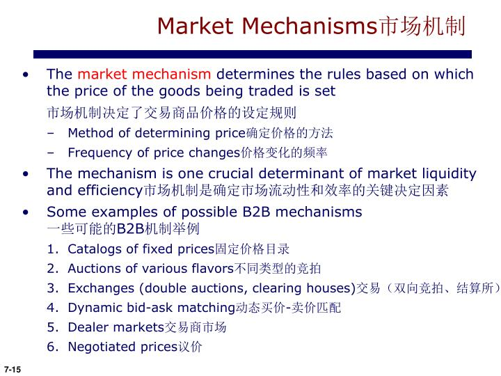Market Mechanisms
