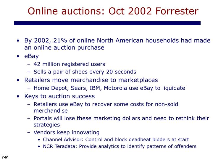 Online auctions: Oct 2002 Forrester